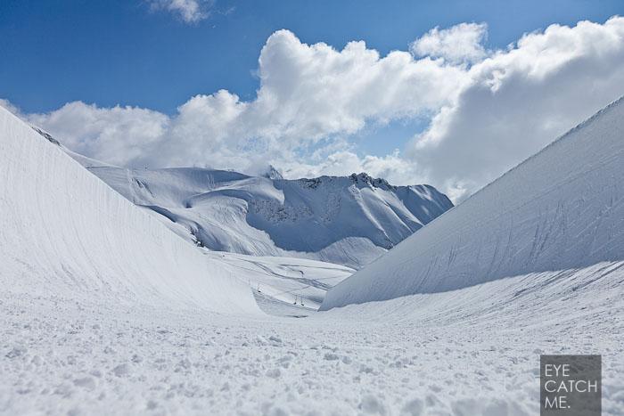 Schönes Foto der noch unberührten Halfpipe am Nebelhorn von Sport und Event Fotograf Eyecatchme