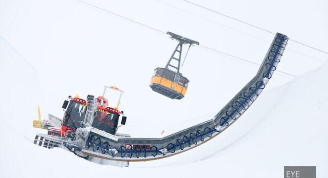 Als Event Fotograf bei den Vorbereitung für die Deutsche Snowboard-Meisterschaft