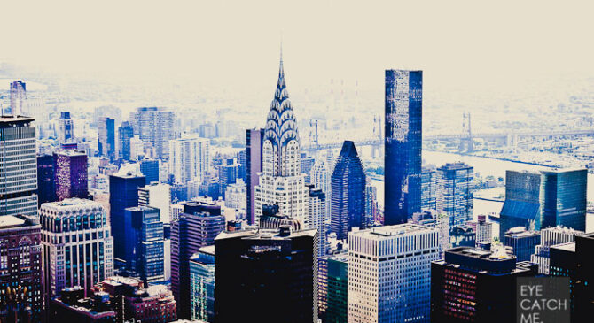 Skyline Foto von New York mit Chrysler Building [picture footprint]