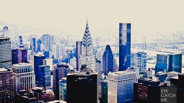Beeindruckendes Fine Art Foto der Skyline von New York mit Chrysler Building. Fotografiert von Fotograf EYECATCHME. aus Köln