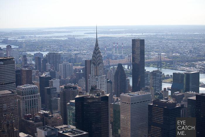 Vorher, nachher Vergleich eines Architektur Skyline Fotos aus New York mit dem Chrysler Building, Fotografiert und bearbeitet von Eyecatchme aus Köln
