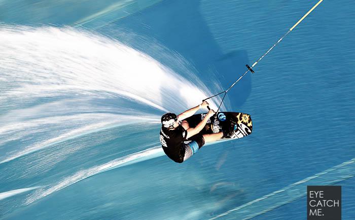 Ein spektakuläres Sport Foto eines Wakeboarders von Fotograf Eyecatchme.