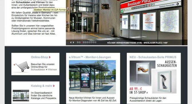 Architektur- Produktfotos auf der ST Vitrinien Website online!