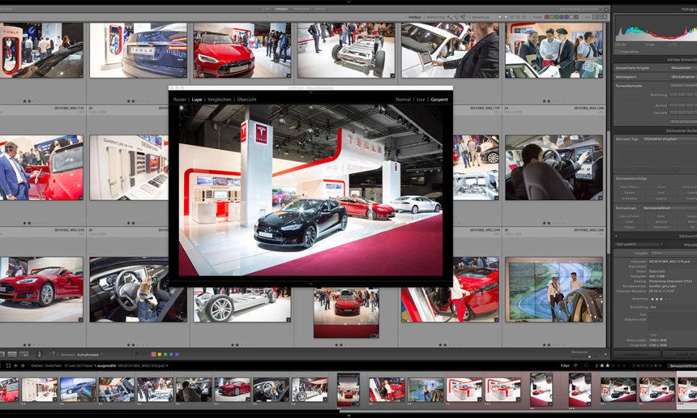 Messe Fotografie für Tesla – Paris Motor Show
